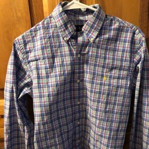 Ralph Lauren Pristine Long Sl Plaid Shirt Small